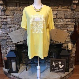 New Bella Canvas Teacher Quote Yellow Tshirt XL